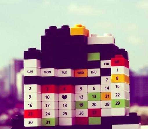 Customizable Building Block Calendars : Perpetual Puzzle within Perpetual 28 Day Expiration Calendar Image