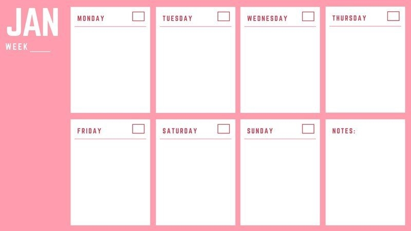 Customize 33+ Weekly Calendars Templates Online - Canva pertaining to Weekly Calendar
