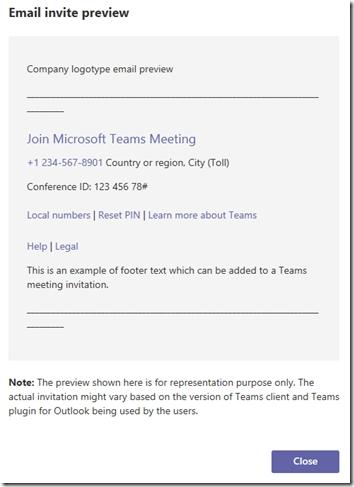 Customizing Microsoft Teams Meeting Invitations : Jeff pertaining to Calendar Invite Sample Graphics