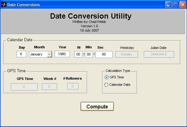 Date Conversion Utility Gui - File Exchange - Matlab Central throughout Reverse Julian Calendar Converter Photo