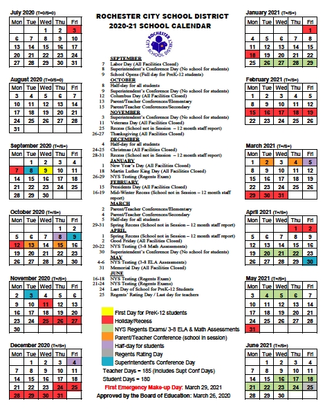 Dates | Rochesterteachers throughout Freetime Magazine Rochester Ny Calendar Photo