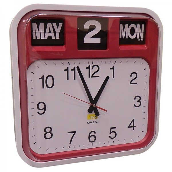 Dementia Clock With Red Surround regarding Clocks For Dementia Graphics