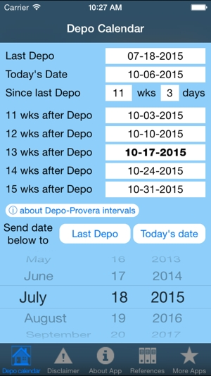 Depo Calendar On The App Store throughout 2020 Leap Year Depo Provera Calendar