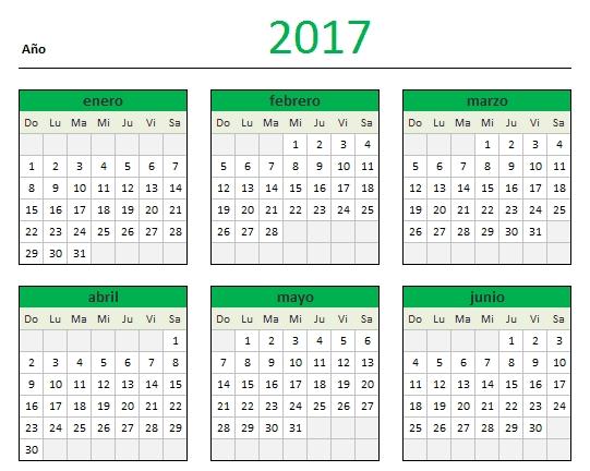Descarga Tu Calendario 2017 En Excel - Blog Aplica Excel inside Excel Calendario Descargar