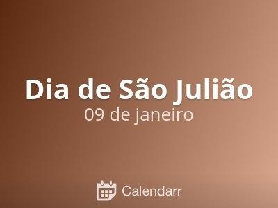 Dia De São Julião   9 De Janeiro - Calendarr intended for Dia Juliao Image