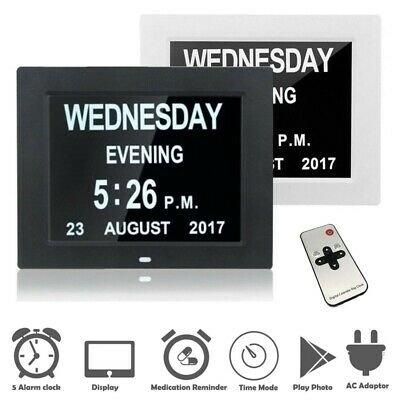 Digital Day Clock Led Calendar Dementia Alarm Time Date Month Year Memory  Loss   Ebay with regard to Dementia Calendar Image