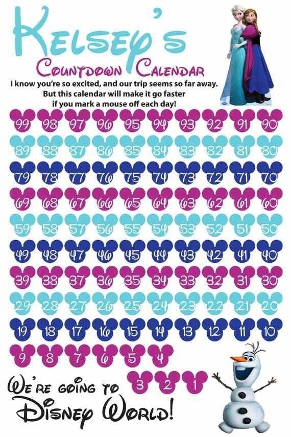 Disney Micky World Printable Countdown Frozen Calendar Ideas throughout 90 Day Countdown Calendar Printable