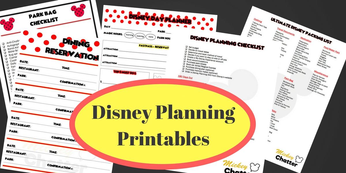 Disney Planning Printables - Mickey Chatter for Disney World Planning Calandr Template