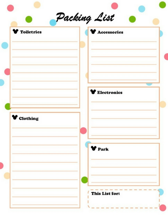 Disney World Free Planning Printables - The Pickled for Disney World Planning Calandr Template