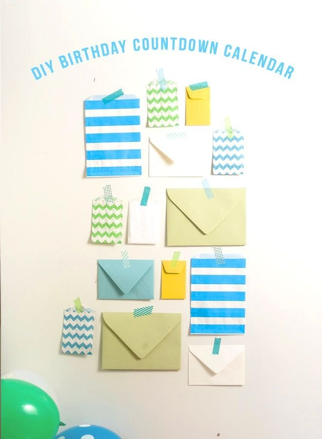 Diy Birthday Countdown Calendar! | Birthday Countdown, Diy regarding How To Make A Calendar For Babys Birthdate Photo