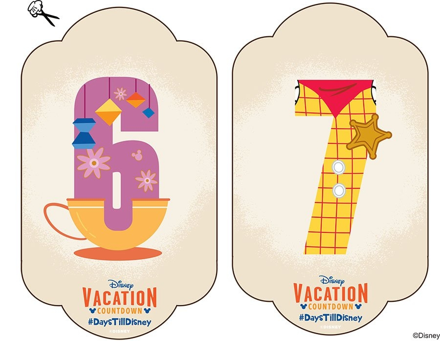 Diy: Create-Your-Own Walt Disney World Vacation Countdown pertaining to Disney Trip Countdown Calendar Photo