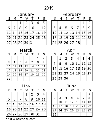 Download 2019 Printable Calendars with regard to 3 Month Calendar 11X17 Printable Image