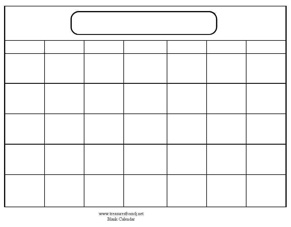 Download Calendar Templates | Blank Calendar, Printable for 8X11 Blank Month Template Graphics