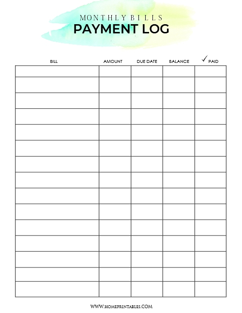 Download Your Free Bill Payment Organizer | Bill Payment with regard to Free Printable A5 Monthly Bill Planner Pages