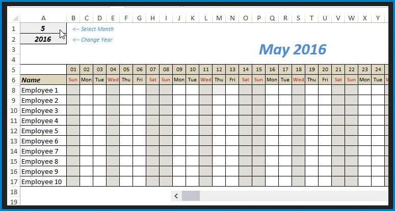 √ Free Editable Monthly Schedule Template Excel | Templateral with Free Monthly Shift Schedule