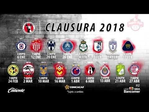 ✔ Xolos Tijuana | Calendario Oficial Clausura 2018 | Liga Mx throughout Xolos De Tijuana Calendario Image