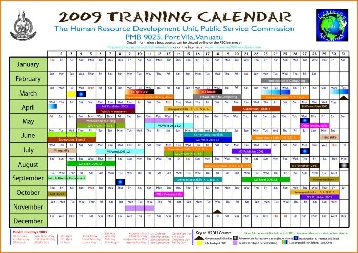 Editable Calendar March 2018 Annual Training Calendar with regard to Monthly Training Calendar Format Photo