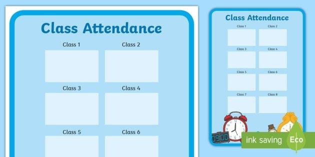 Editable Class Attendance Display Poster (Teacher Made) pertaining to Editable Attendance Calendar For Teachers