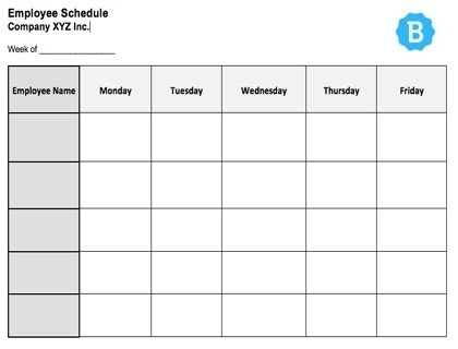 Employee Schedule Template [Free Instant Downloads] regarding Free Monthly Shift Schedule