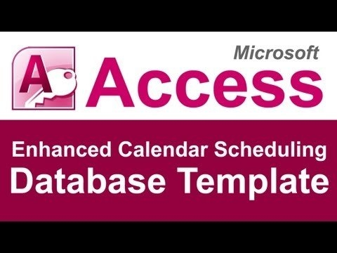 Enhanced Microsoft Access Calendar Scheduling Database intended for Database Access Calendar Scheduling Photo