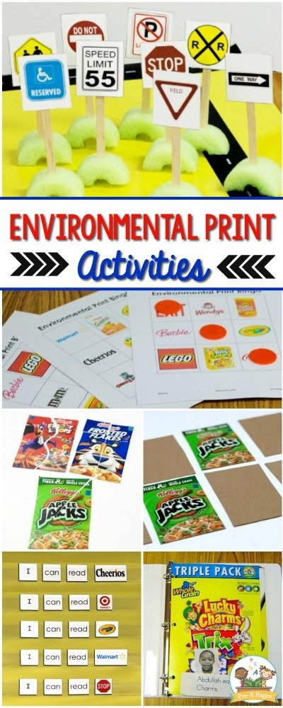 Environmental Print Ideas, Activities, Games And More! in Preschool Classroom Print