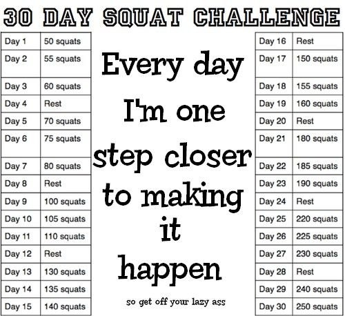 Erica Collazo: 30 Day Squat Challenge | 30 Day Squat in 30 Day Squat Challenge Printable