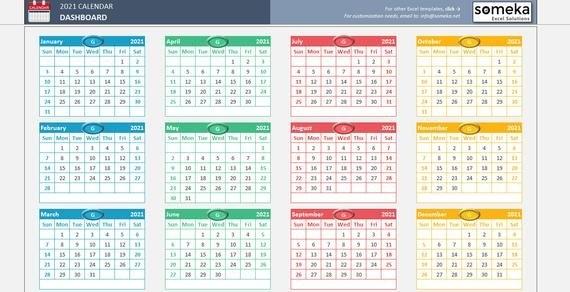 Excel Calendar Template 2021 - Printable Spreadsheet Calendar with regard to Calendarios Excel Photo