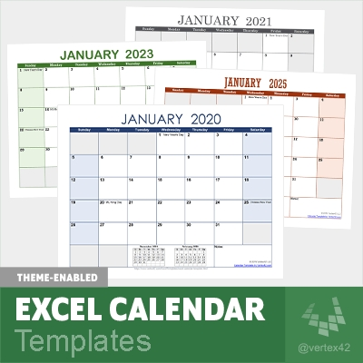Excel Calendar Template For 2020 And Beyond in Easy Fill In Calendar Graphics