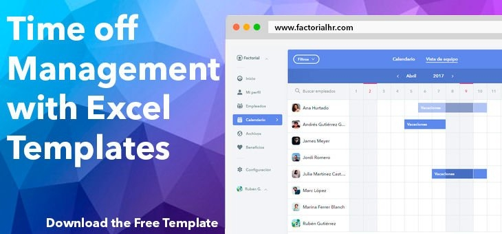 🎉 Manage Time Off Requests W/ Free Template | Factorial within Excel Time Off Calendar Graphics