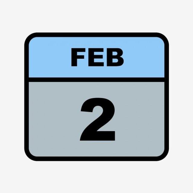 February 2Nd Date On A Single Day Calendar, Calendar Icons with Single Day Calendar Image