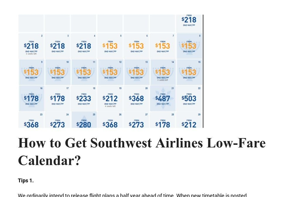Find Here Southwest Airlines Low Fare Calendar And Book throughout Southwest Airlines Low Fare Calendar Graphics