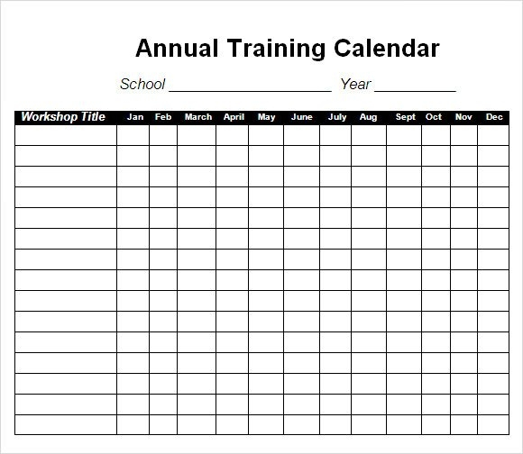 Free 21+ Sample Training Calendar Templates In Google Docs within Monthly Training Calendar Format
