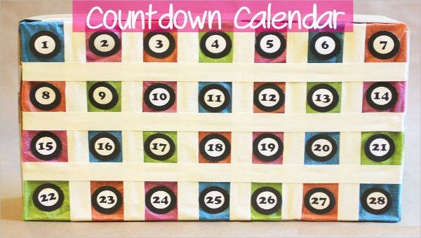 Free 8+ Countdown Calendar Templates In Pdf throughout Free Count-Down Calendar Printable Graphics