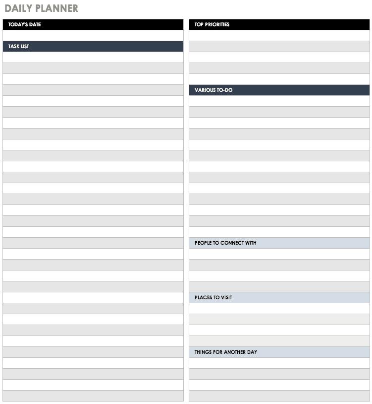 Free Blank Calendar Templates - Smartsheet for Day Runner Pro Free Calander Printout