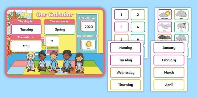 Free! - Calendar And Weather Chart For Classrooms - Primary within Free Printable Short Timer Calander Graphics