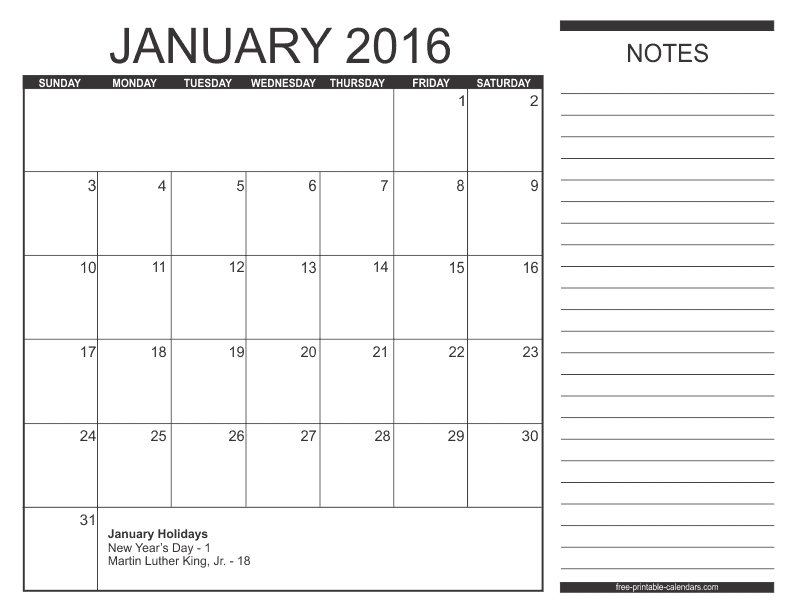 Free Calendars To Print | Pdf Calendars regarding Large Block Monthly Calender Template