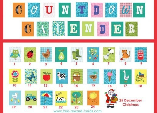 Free Countdown Calendars - Website for Free Count-Down Calendar Printable