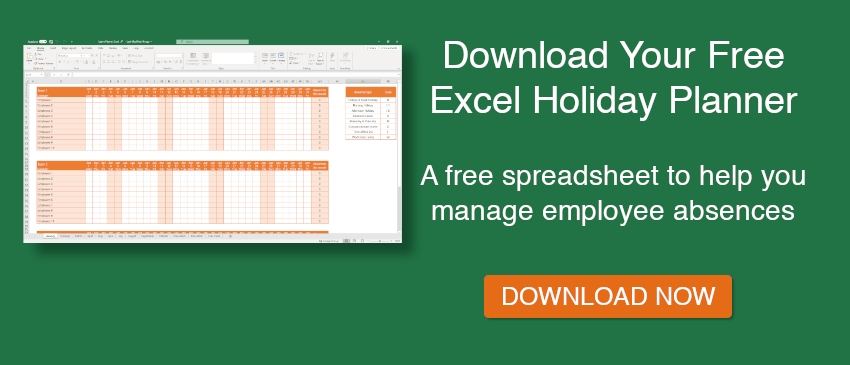 Free Excel Holiday Planner Template | E-Days within Annual Leave Planner Template Via Excel Graphics