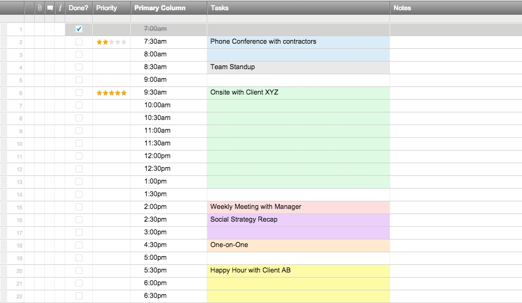 Free Excel Schedule Templates For Schedule Makers within Color Coded Schedule Template Photo