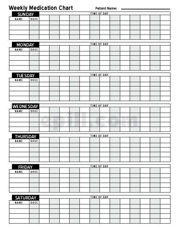 Free Medication Schedule E-Pill Medication Chart throughout Multi Dose Calendar