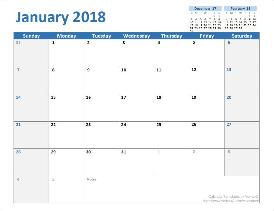 Free Monthly Calendar Template For Excel regarding Vertex42.com 3 Month