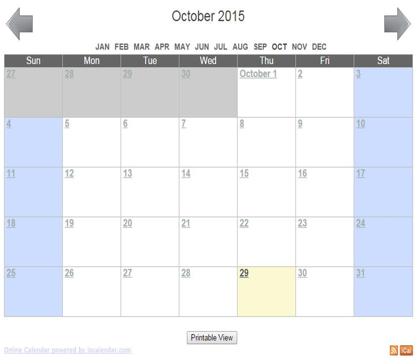 Free Online Calendar For Webmaster, School, Family, Churches with regard to Samples Of Calensars Image