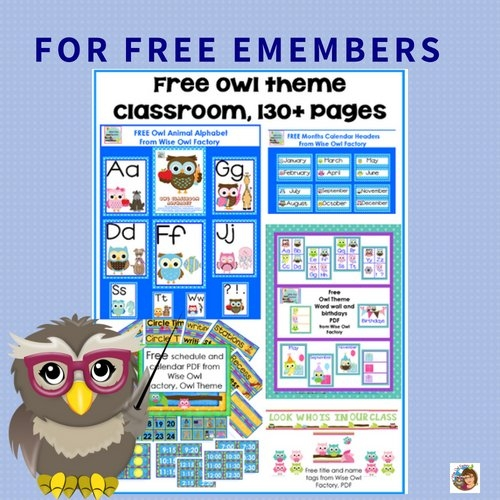 Free Owl Theme Classroom Printables • Wise Owl Factory inside Wise Owl Calendars
