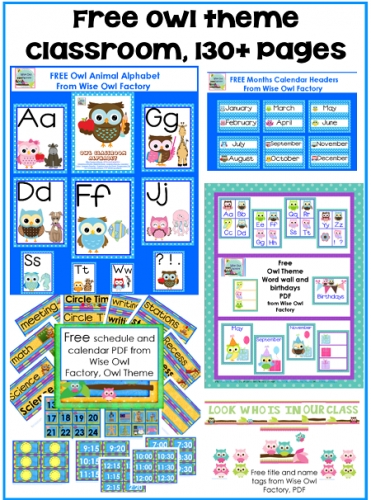 Free Owl Theme Classroom Printables • Wise Owl Factory pertaining to Wise Owl Factory Editable Calendar Graphics