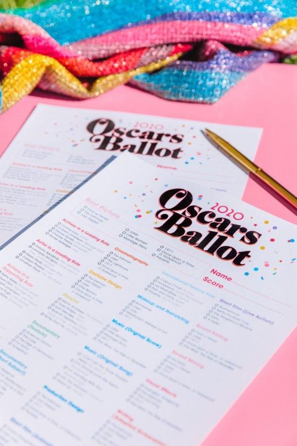 Free Printable 2020 Oscar Ballot - Studio Diy inside Guess Baby Date Ballot Image