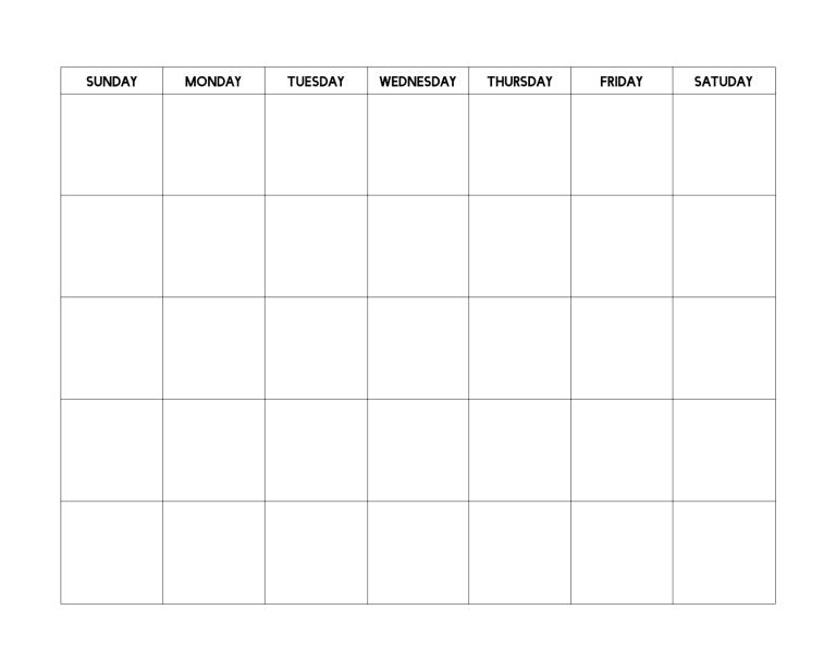 Free Printable Blank Calendar Template | Printable Blank with regard to Plain Calendar Printable