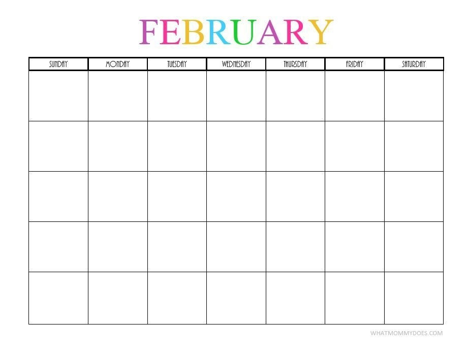 Free Printable Blank Monthly Calendars – 2019, 2020, 2021 in Downloadable Calendars You Can Type In