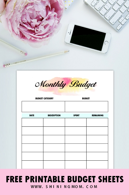 Free Printable Budget Sheets: 28 Brilliant Pages In A5 Size! in Free Printable A5 Monthly Bill Planner Pages Graphics