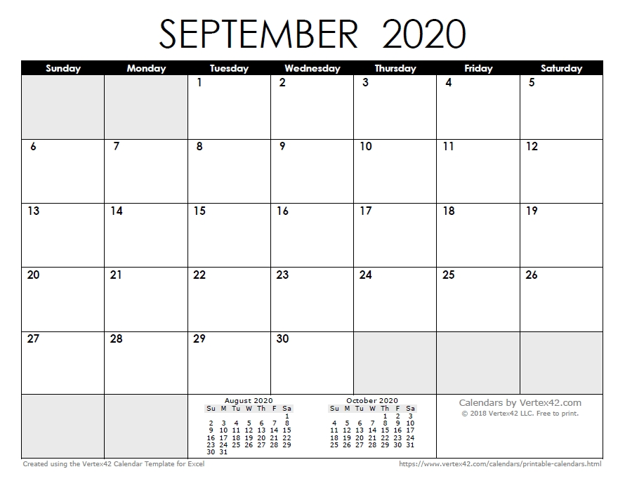Free Printable Calendar - Printable Monthly Calendars within Vertex42.com 3 Month Photo