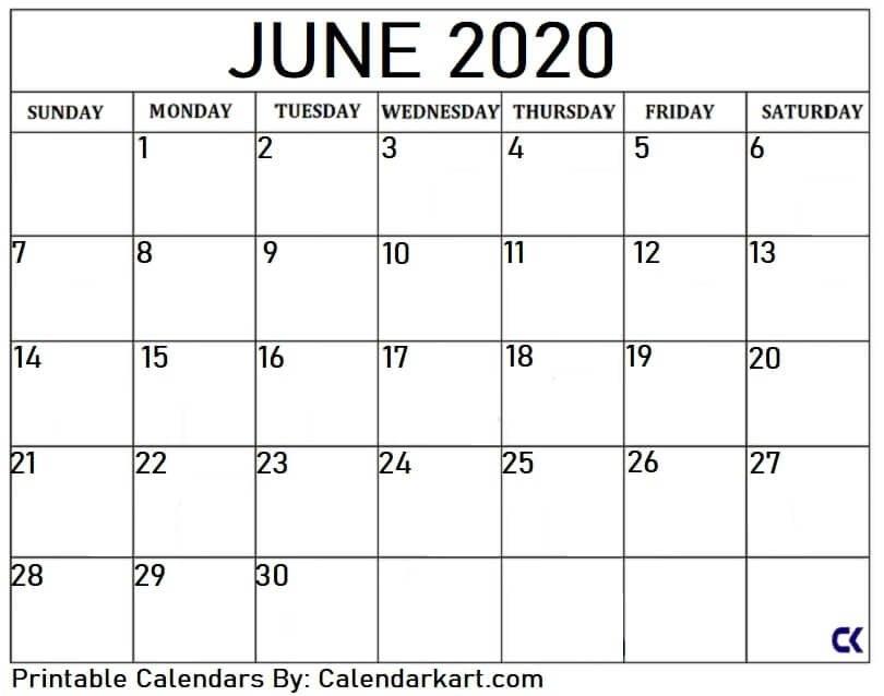 Free Printable Calendar Templates 2020 » Calendarkart with Large Block Calendar Template Image